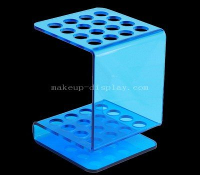 Translucent blue acrylic eyebrow pencil display stand