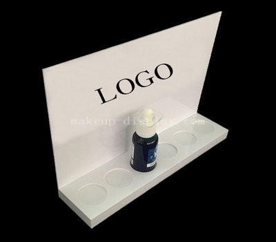 White nail polish display stand