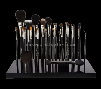 Black acrylic makeup brush holder