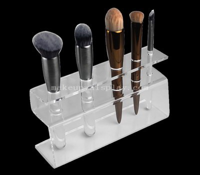 Clear acrylic makeup brush organizer