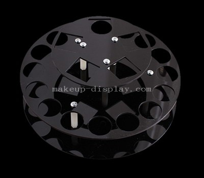 Black acrylic cosmetic brush holder
