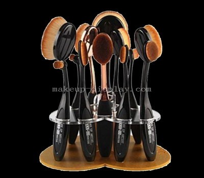 Gold acrylic display for makeup brush