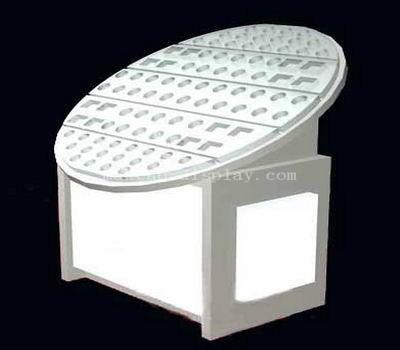 Free standing acrylic cosmetic display organizer