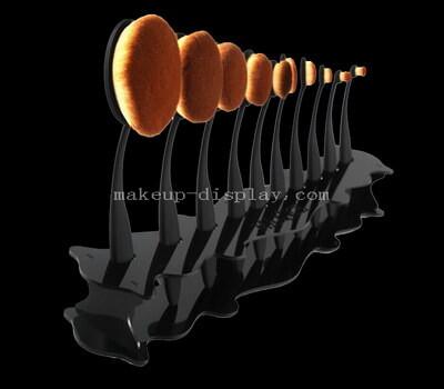 Black makeup brush display stand